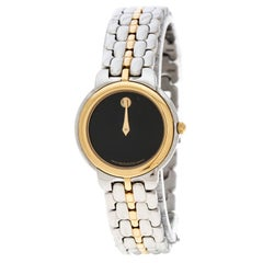 Movado Black Two Tone Stainless Steel Museum Women's Wristwatch 26MM