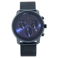 Movado Bold Chronograph Stainless Steel Blue Dial Quartz Dial Mens Watch 3600403