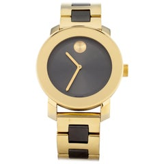Movado Bold Gray and Gold Tone Quartz Watch MB.01.3.34.6038