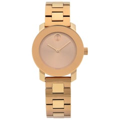 Movado Bold Rose Gold Tone Steel Quartz Ladies Watch 3600435