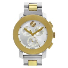 Movado Bold Silver Sunray Dial Two-Tone Steel Unisex Quartz Watch 3600357
