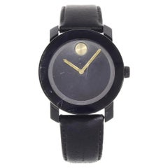 Movado Bold Stainless Steel Black Dial Quartz Men's Watch 3600480