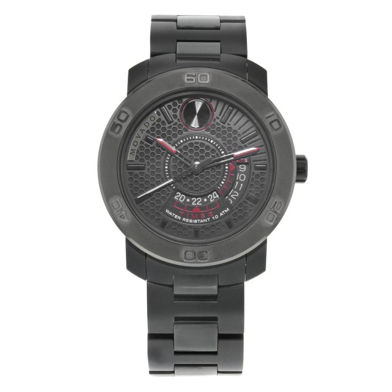 e3929573c25 Movado Bold Stainless Steel Black Ion-Plated Quartz Men s Watch 3600384 For  Sale