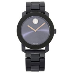 Movado Bold Stainless Steel Plastic Navy Blue Dial Quartz Men's Watch 3600444