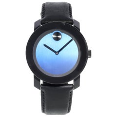 Movado Bold Steel Plastic Blue Metallic Dial Quartz Men's Watch 3600481