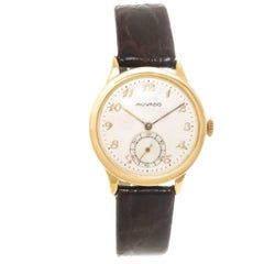Movado Yellow Gold Calatrava Vintage Manual Wind Wristwatch, circa 1940s