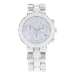 Movado Cerena White Ceramic Stainless Steel Quartz Ladies Watch 606758