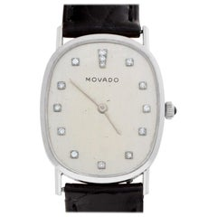 Movado Classic 5120 14 Karat White Gold Ivory Dial Manual Watch