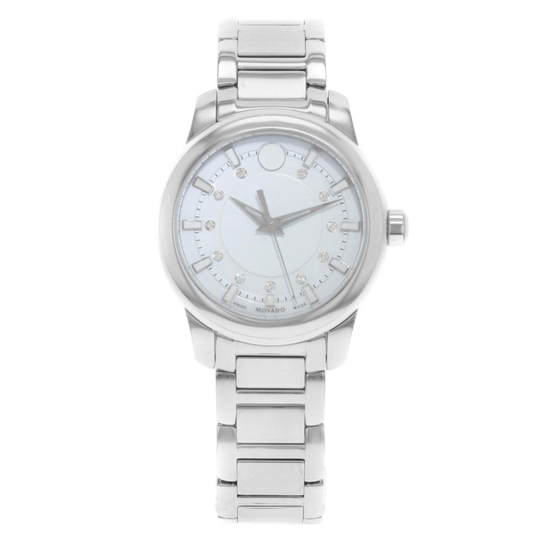 8c600520488 Movado Collection White Dial Stainless Steel Ceramic Quartz Ladies Watch  0606943 For Sale