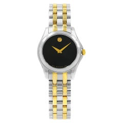 Movado Corporate Exclusive Black Dial Two-Tone Steel Quartz Ladies Watch 0605976