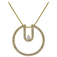 Movado Diamond Circle Pendant Necklace