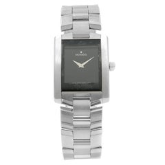 Movado Eliro Black Rectangle Dial Steel Quartz Men's Watch 0604132