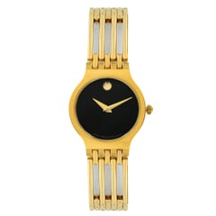 Movado Esperanza Museum Black Dial Steel Quartz Ladies Bracelet Watch 0600457