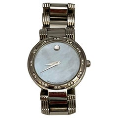 MOVADO Esperanza Quartz SS White MOP Diamond Women's Watch, 6553674