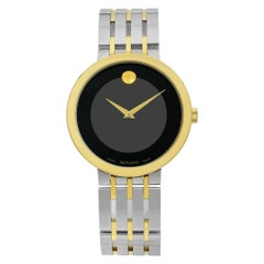 Movado Esperanza Two-Tone Stainless Steel Black Dial Quartz Men's Watch 607058