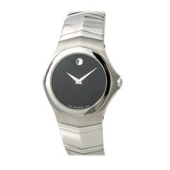 Movado Faceto 84G11895, Black Dial, Certified and Warranty