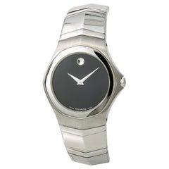 Movado Faceto 84G11895 Men's Quartz Stainless Steel Watch Black Dial