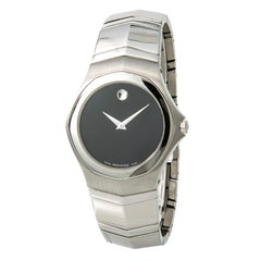 Movado Faceto 84G11895 With 7.5 in. Band, Stainless-Steel Bezel & Black Dial