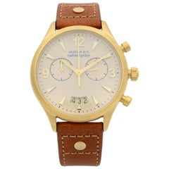 Movado Heritage Calendoplan Chronograph Ivory Dial Quartz Ladies Watch 3650025