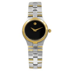 Movado Juro Black Dial Stainless Steel Quartz Ladies Watch 0605031