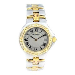 Movado Lady Dress Watch Steel and 18Kt. Gold, circa 1990's