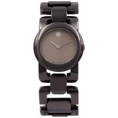 Movado Luma 0606573 Stainless Steel PVD Coated Quartz Ladies Watch