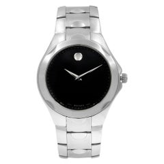 Movado Luno Museum Black Dial Stainless Steel Quartz Men's Watch 0606378