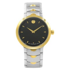 Movado Luno Museum Black Sticks Dial Two-Tone Steel Quartz Men's Watch 0607043