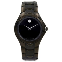 Movado Luno Stainless Steel Black PVD Quartz Men's Watch 0606536