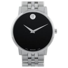 Movado Men's Museum Classic Black Dial Stainless Steel Watch 0607199
