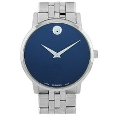 Movado Men's Museum Classic Blue Dial Stainless Steel Watch 0607212