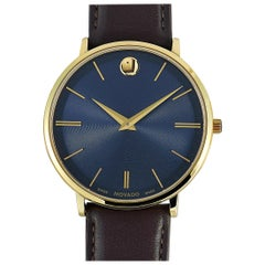 Movado Men's Ultra Slim Blue Dial Watch 0607088