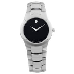 Movado Monto Stainless Steel Black Museum Dial Quartz Men's Watch 84 G1 1897