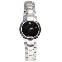 Movado Museum 84-A1-1842 With 6.5 mm Band, Stainless-Steel Bezel & Black Dial