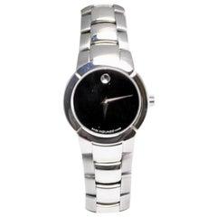 Movado Museum 84-A1-1842 Women's Quartz Watch Black Dial Stainless Steel