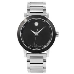 Movado Museum Black Dial Stainless Steel Quartz Men's Watch 0606604