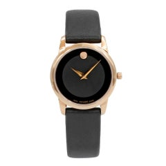 Movado Museum Classic Rose Gold Tone PVD Steel Quartz Ladies Watch 0607079