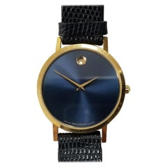 Movado Museum Classic Watch with Blue Dial