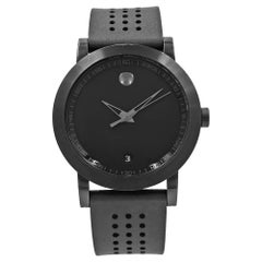 Movado Museum Sport Stainless Steel and Rubber Quartz Men's Watch 0607038