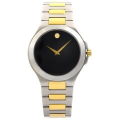 Movado Museum Two-Tone Steel Black Dial Quartz Men's Watch 0606181