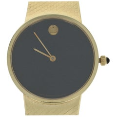 Movado Museum Watch, 14 Karat Gold Quartz 2 Year Warranty 66 0210 105