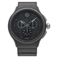 Movado Parlee Carbon Fiber Sticks Dial Titanium Peek Quartz Men's Watch 0606929
