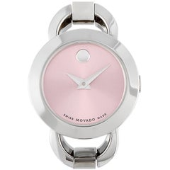 Movado Rondiro Pink Dial Stainless Steel Watch 606797