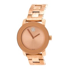 Movado Rose Gold Plated Bold MB.01.3.34.6039 Women's Wristwatch 36 mm