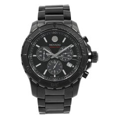 Movado Series 800 Chrono Black on Black PVD Steel Quartz Men's Watch 2600119