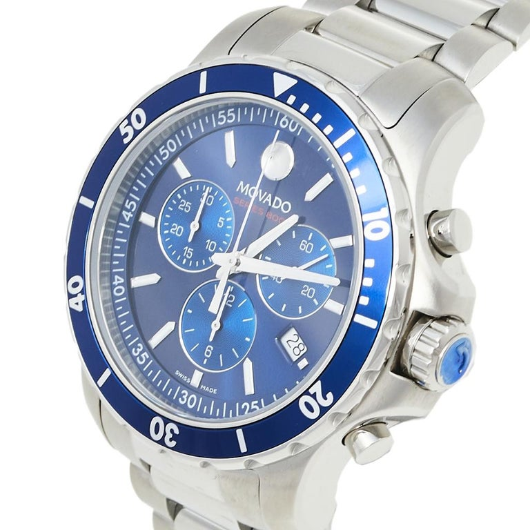 Movado Series 800 Chronograph MO.14.1.27.1425.1127.10/3 Men's Wristwatch 42 mm In New Condition For Sale In Dubai, Al Qouz 2