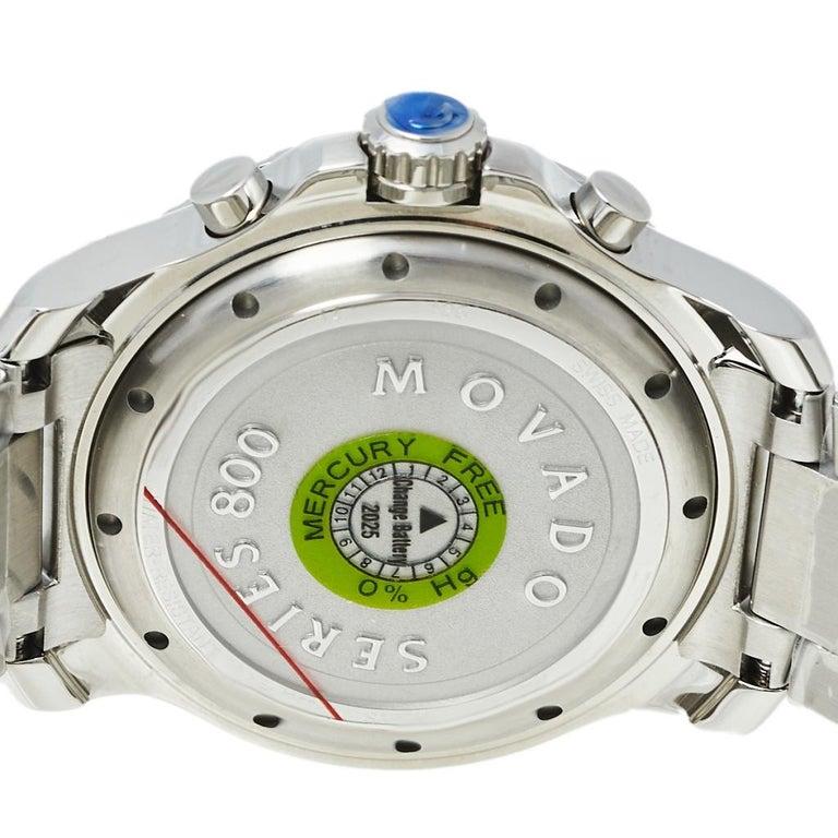Movado Series 800 Chronograph MO.14.1.27.1425.1127.10/3 Men's Wristwatch 42 mm For Sale 2
