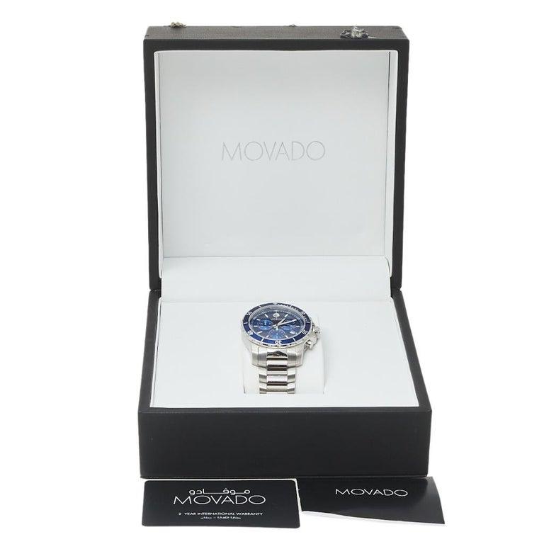 Movado Series 800 Chronograph MO.14.1.27.1425.1127.10/3 Men's Wristwatch 42 mm For Sale 4