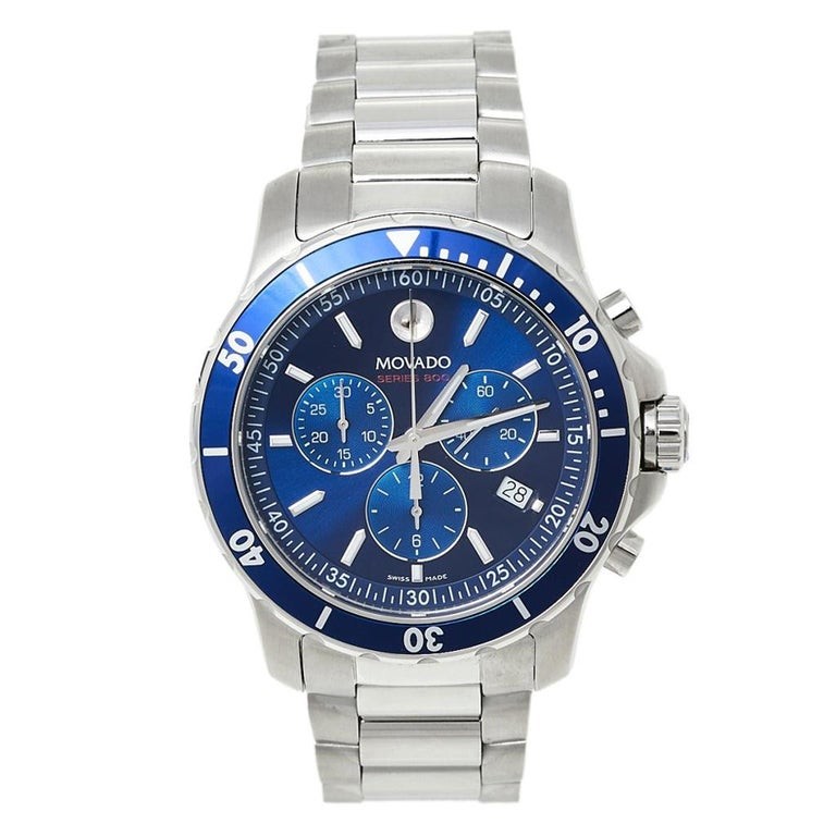 Movado Series 800 Chronograph MO.14.1.27.1425.1127.10/3 Men's Wristwatch 42 mm For Sale