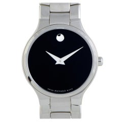 Movado Serio 607288, Millimeters Black Dial, Certified and Warranty